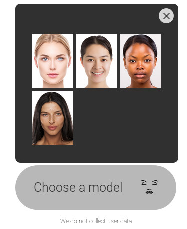 Models choice AlgoFace