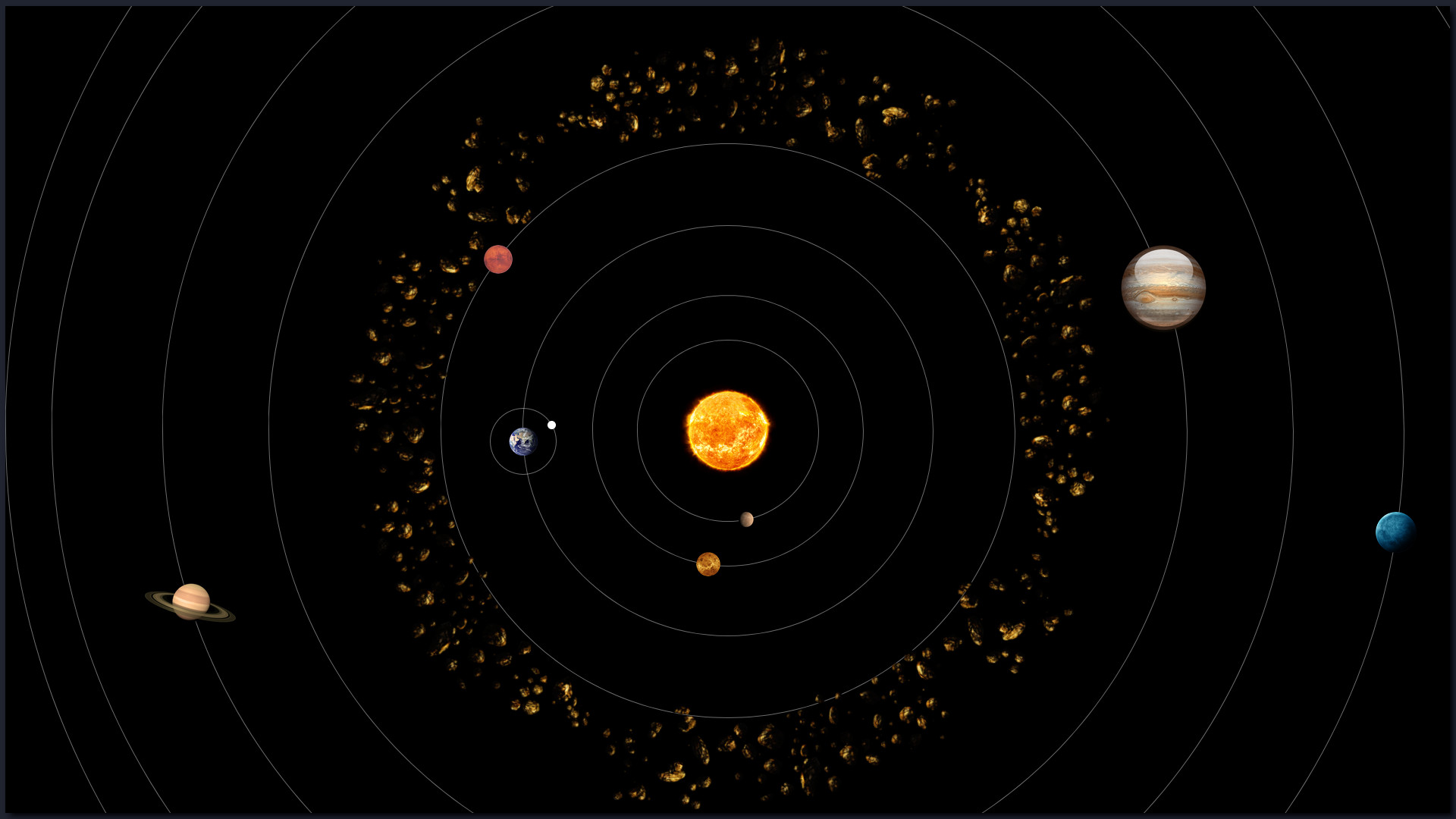 Sistema Solar feito com HTML, CSS e Javascript puro