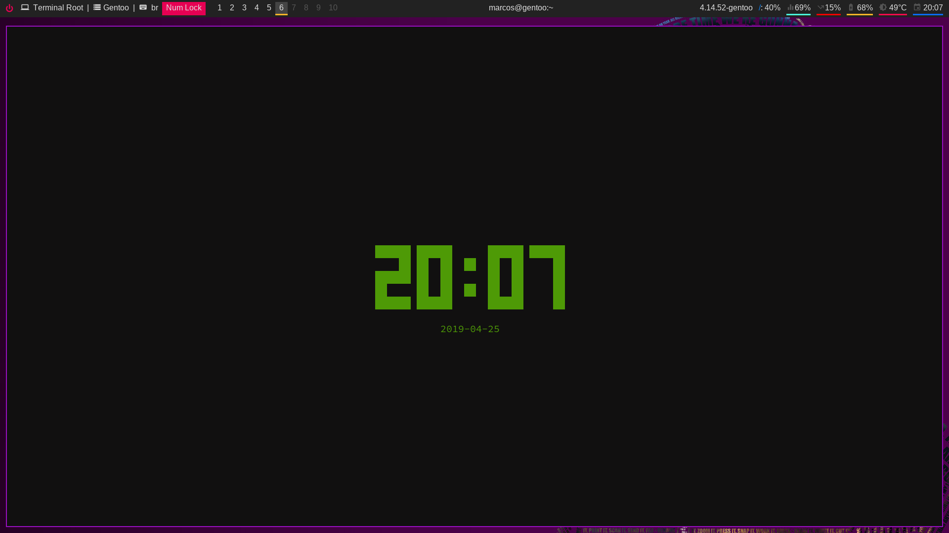 Screenshot tty-clock