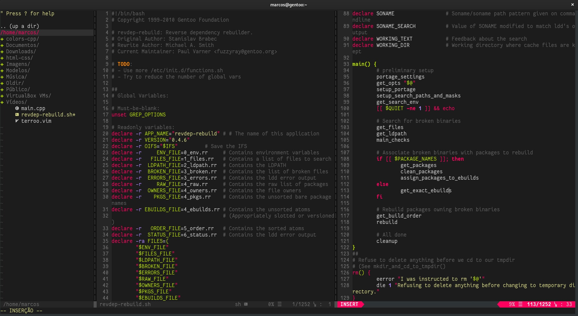 Instale o colorscheme Terroo Colors no seu Vim